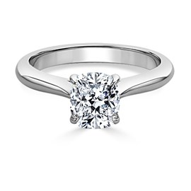 Classic Cushion Cut Solitaire Engagement Ring *setting only